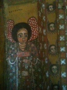 Coro di angeli affrescati nelle chiese etiopi