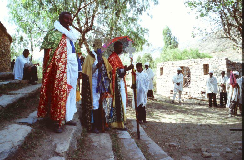 Etiopia Sacerdoti che celebrano il Natale Copto